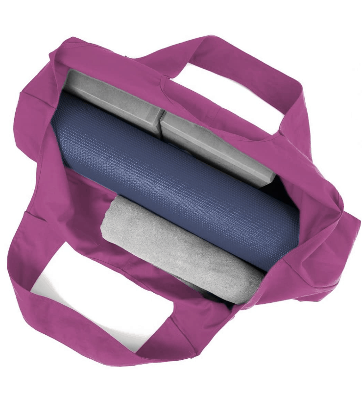 Large Yoga Mat Tote Sling Carrier With Side Pocket Lemon Balm Yoga Wellness